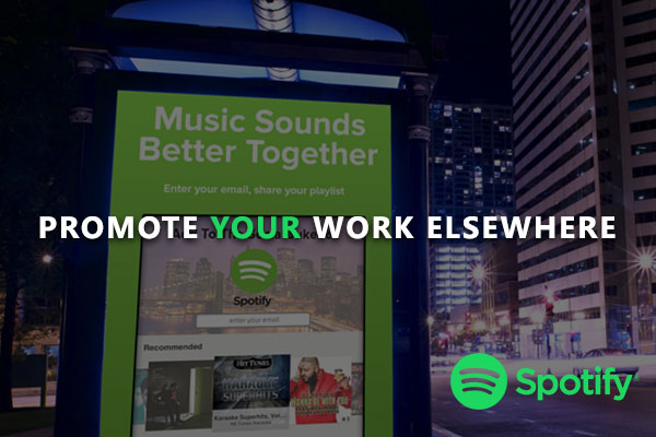 Promote your work elsewhere