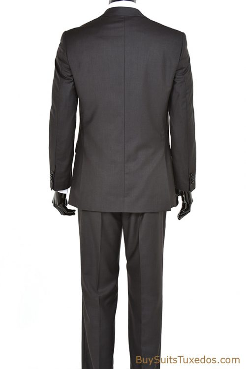 Mens Three Piece Charcoal Grey 3 Piece Suit Modern Fit