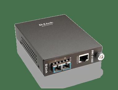 D-Link 1000Base-T UTP to 1000Base-LX SM SC Gigabit Fiber Media Converter – DMC-810SC