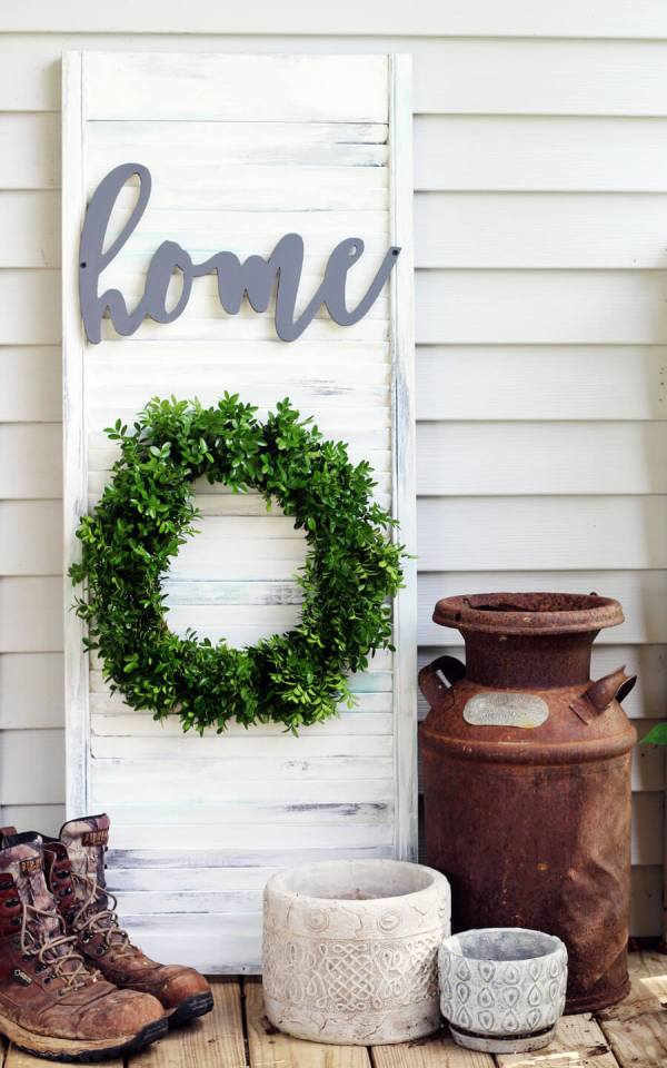 Rustic Wall Decor Shutter DIY Buy This Cook That