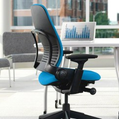 Steelcase Chair Desk Silicon Valley Best Office Leap Ergonomic In Leather