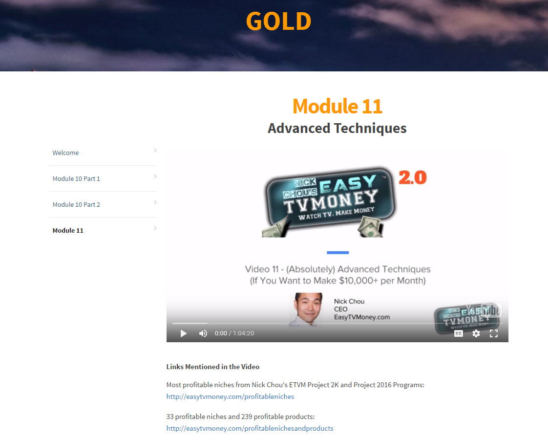 Easy TV Money-Gold-Membership-Content
