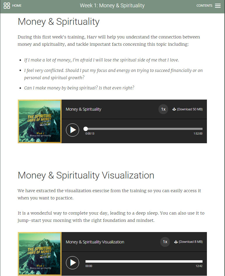 Spiritual Laws of Money Screenshot