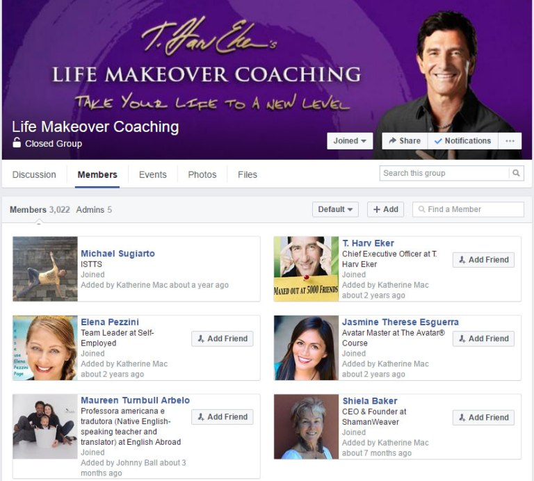 Life Makeover Coaching T Harv Eker Group