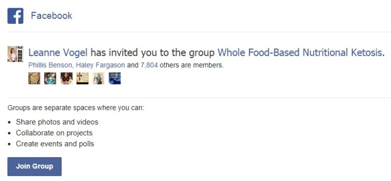 Facebook Group Invite