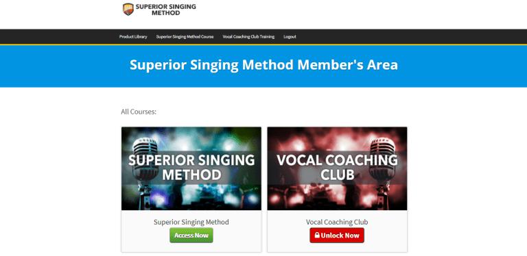 Superior Singing Method - Member Area