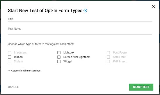 A/B Testing Different Forms