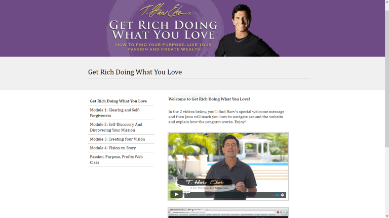 Get Rich Doing What You Love Member Area