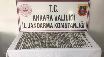 Ankara'da tarihi eser operasyonu: 1016 sikke ele geçirildi