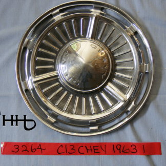 front view of hubcap # c13chev1963_1