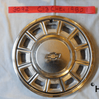 front view of hubcap # c13chev1980_1