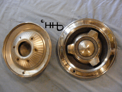 back and front view of hubcap # c14chry1965_2