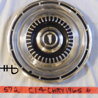 front uiew of hubcap # c14chry1965_6
