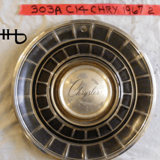 front view of hubcap # c14chry1967_2
