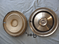 back and front view of hubcap # c14chry1975_7