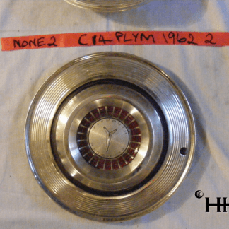 front view of hubcap # c14plym1962_2