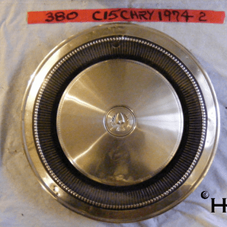 front view of hubcap # c15chry1974_2