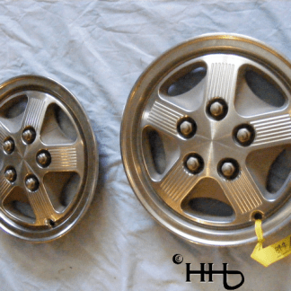 Front view of both hubcap # c14ford1987_1 and 2