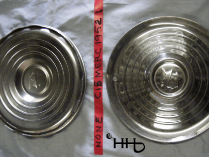 back and front view of hubcap # c15merc1952_1