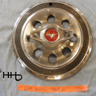 Front view of hubcap # c14buic1965_6