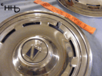 Close up view of hubcap # c14buic1978_7