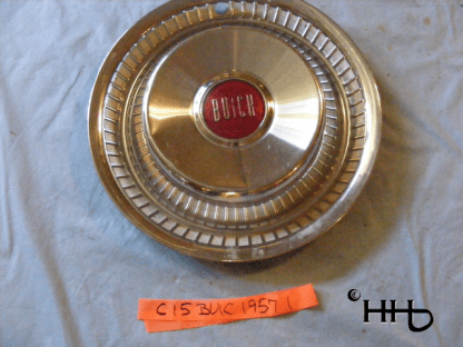 front view of hubcap # c15buic1957_1