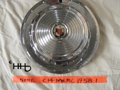 front view of hubcap # c14merc1958_1