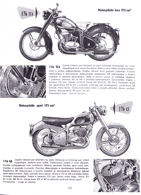 Page 184. 1956 Peugeot 176TC4 175cc French Military. SOLD
