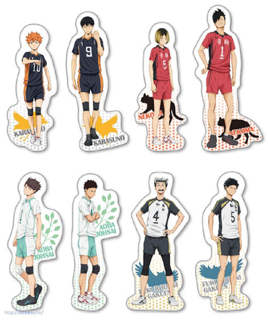 排球少年!! : 日版 第二季球員 全身胸針 (8 個入) : buyway.hk