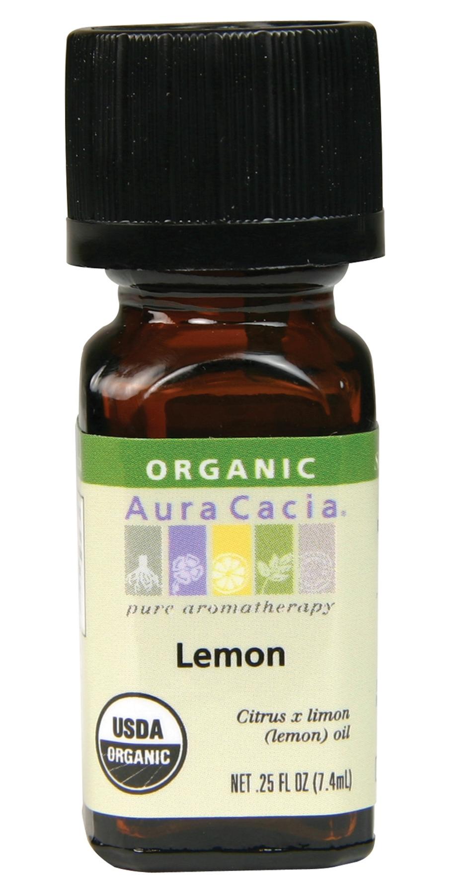 Aura Cacia Organic Lemon Essential Oil 7.4ml   BuyWell ...