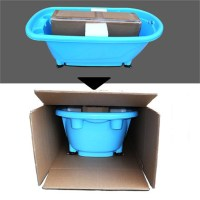 Laundry Tub Pet Dog Bath Shower Utility Floor Bowl Stand ...