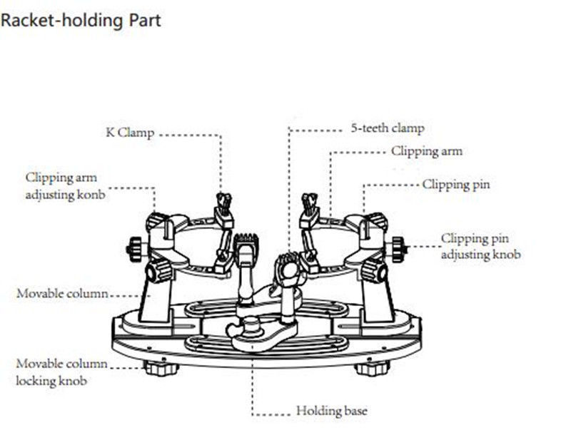 Manual Racket Threading Machine Stringing Machine for