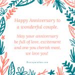 Best Wedding Anniversary Wishes For Inlaws Facebook