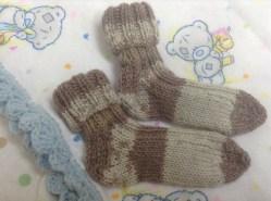 Baby socks and blanket
