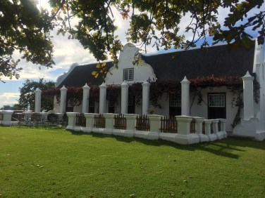 Meerlust wine Estate, Manor House built in Cape Dutch architecture.