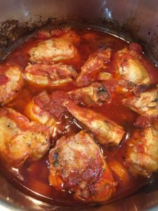 Buzymum - Chicken, tomato and borlotti bean stew