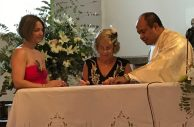 Buzymum - Mum and I signing our presence as witnesses