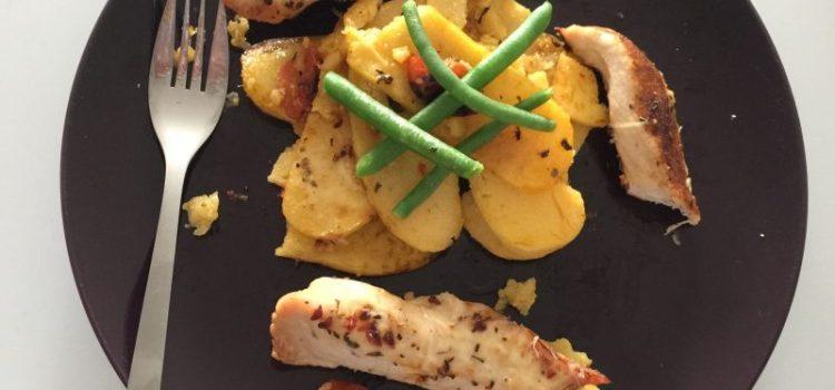 Nicola's Italian Style Chicken and Polenta