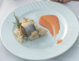 Buzymum - Sea bass with risotto and the chef's special sauce- delicious!