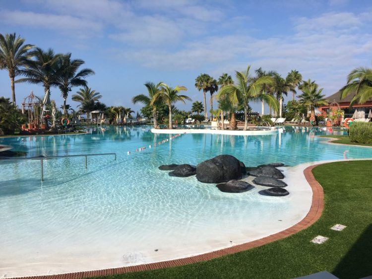The salt water pool at the Sheraton hotel, Tenerife