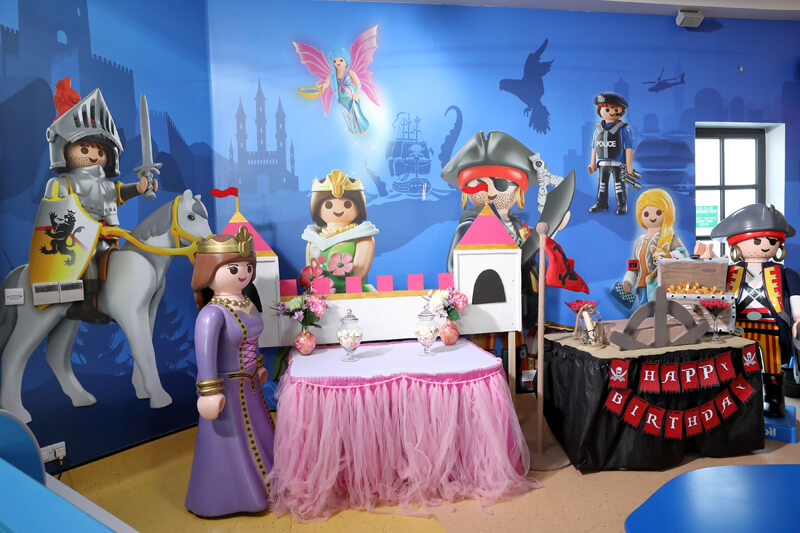 Cake table at Playmobil.