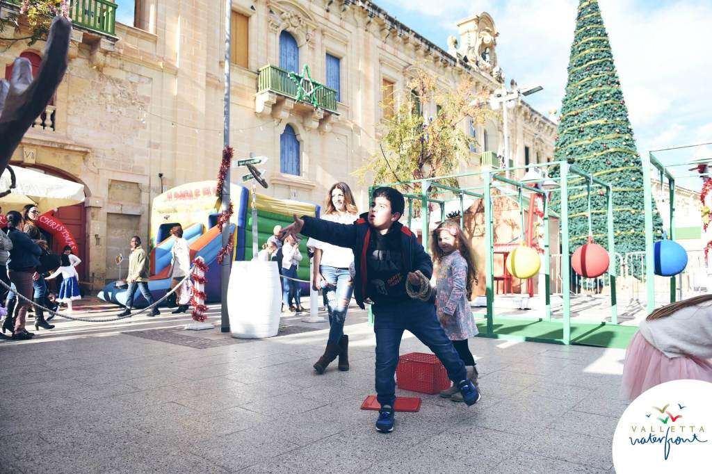 Children's games at the Valletta Waterfront