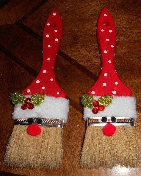 Christmas decor paint brush