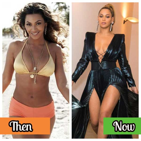 Beyonce celebrity photos before and after