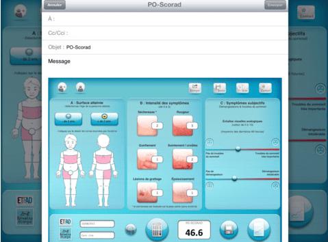 Application PO-Scorad pour reconnaitre les symptômes et évaluer l'eczéma