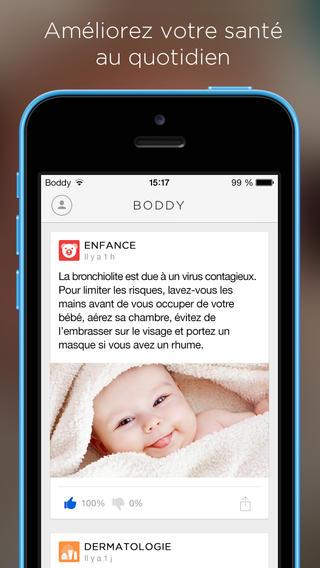 Des conseils santé quotidien avec l'application Boddy