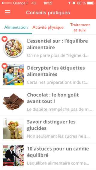 Diabetopartner : application mobile pour patients diabétiques