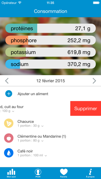 NutriDial : application mobile pour les patients sous dialyse