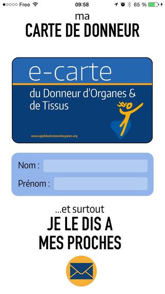 Une application pour les donneurs d'organes