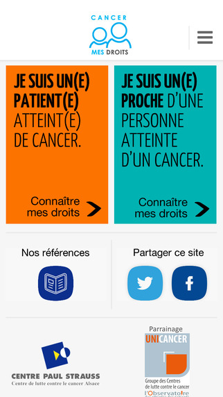Cancer Mes Droits : application mobile pour patients